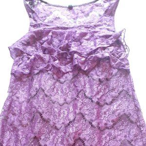 Free People Sleeveless purple lace dress midi smal